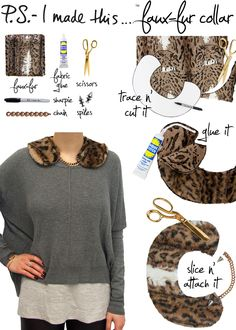 P.S.- I made this...Faux-Fur Collar #PSIMADETHIS #DIY
