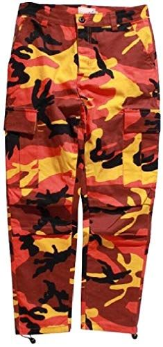 Hajotrawa Mens Camouflage Fitness Slim Fit Sports Jogging Cargo Trousers Pants