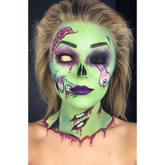 """209 Likes, 6 Comments - Nicole Childers (@barbell_barbie147) on Instagram: """"Day 8 of #100daysofmakeup Pop Art zombie😘 #facepaint #facepainter #bodypainter #bodypaint #kiss…"""""""