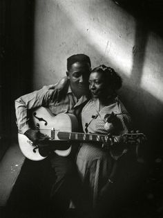 Muddy Waters and wife Geneva, Chicago, 1951. Photo by Art Shay.