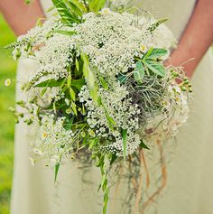 Country wild flower bouquet .The white is queen ann's lace I'd like to use this