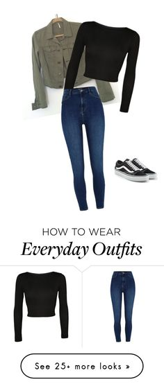 """Simple everyday outfit"" by mayaparrish on Polyvore featuring WearAll, River Island and Vans"