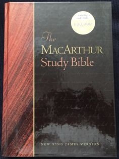 The MacArthur Study Bible © 1997 Word Publishing NKJV Thomas Nelson 2201 Pages