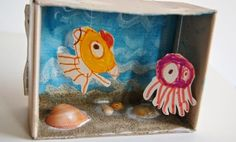 Lavoretti per bambini: diorama sottomarino
