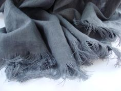 LINEN THROW BLANKET for 2 Beach Linen Blanket Dark Gray Linen Soft Summer Blanket Stonewashed Beach Blanket Linen Bedding  Natural Linen Throw Blanket made of 100% stonewashed linen flax. You could use it as bedding or on the beach. Blanket has fringe from two sides.  Weighs ~ 200g/m2  Linen bedding is great for your health. Linen is hypoallergenic. Because of the special wash, these products wont shrink after you wash them. Ironing is not required as the slightly wrinkled look of the…