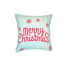 Grandin Road Christmas Merry  Ornaments Pillow ($39) ❤ liked on Polyvore featuring home, home decor, christmas home decor, outside home decor, grandin road, outdoor home decor and inspirational home decor