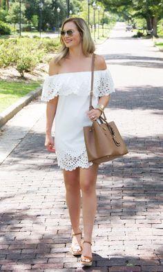 e6a0c06c33 White Cutout Dress   Similar. Bloom Girl Blog