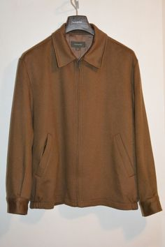 US $459.00 Pre-owned Ermenegildo Zegna Brown Cashmere Jacket XL ITALY