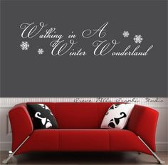 Walking In A Winter Wonderland Wall Decal  by GroveMillsGraphics, $20.00