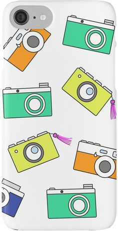 Retro Camera by Linecircle Co #iphone #case #skin #camera #pattern #redbubble #linecircle #LinecircleStationary