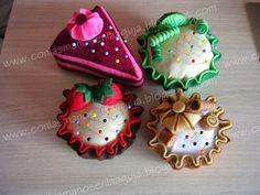 Con las Manos en la Aguja: COSTURAÑO 2.016 FEBRERO - #Tutorial Alfileteros #Cupcake en Fieltro (Felt Cupcake Pincushions Tutorial)
