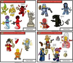 LEGO Collectible Minifigs by Alexandre Boudon - http://thebrickblogger.com/2013/07/lego-minifigs-by-alexandre-boudon/