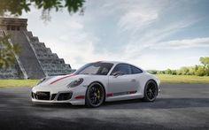 Download wallpapers 4k, Porsche 911 Carrera GTS Coupe, 2018 cas, Chichen Itza, Mexico, sportcars, Porsche for desktop free. Pictures for desktop free