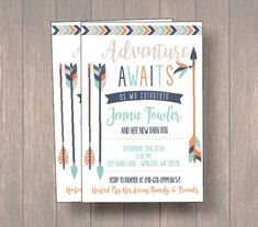 Baby shower invite, baby boy shower invitation, tribal theme baby shower, arrows baby shower, boho baby shower invitatoin