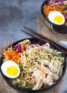 This chicken ramen bowl is flavorful, easy, healthy and definitely comforting.