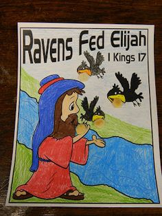 I am beyond excited about this lesson. I know the KIDDOS will LOVE learning all about the Ravens Feeding Elijah. I LOVE how GOD takes c...
