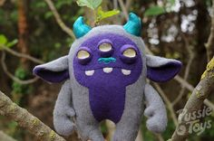 Wild thing. Monster plush grey and purple by pussietoys on Etsy