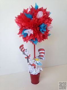 18. #Table Decoration #Centerpiece - 42 Totally #Great Dr. Seuss #Things to Share with Your Kids ... → #Parenting #Stories