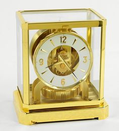 A Le Coultre Brass Atmos Mantle Clock. Lot 153-2143