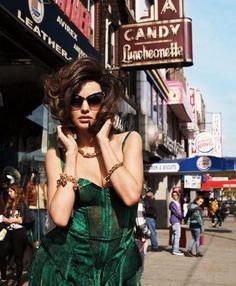 Cat Eye 50's – model miranda kerr, photographer terry richardson, harper's bazaar, april 2012