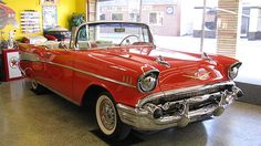 1957 Chevrolet Bel Air Convertible presented as lot T246 at Indianapolis, IN