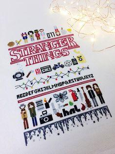 [FO] Stranger Things (pattern by me) finally finished. Stranger Things Season 3, Stranger Things Funny, Stranger Things Netflix, Cross Stitch Samplers, Cross Stitching, Cross Stitch Patterns, Theme Harry Potter, Beading Patterns, Pixel Art