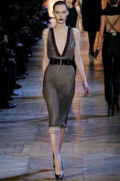 YSL by Stefano Pilati chainmail dress  TDF-to die for!