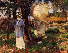 """John Singer Sargent    """"The Sketchers"""", 1914"""