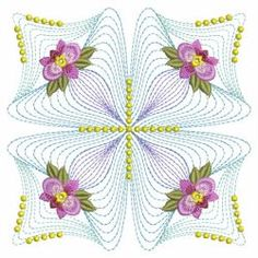 Rippled Pansy Quilt 05(Sm) machine embroidery designs