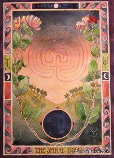 A4 print 'Spiral Moon' from original 13 Moons by daniellebarlowart
