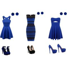 3 shades of pearly blue by ariasia on Polyvore featuring Miss Selfridge, Christian Louboutin and Andrea Fohrman