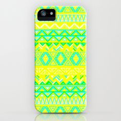 India Style Pattern (Neon) iPhone Case by Maximilian San - $35.00