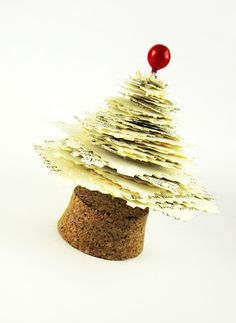 Christmas Paper Tree DIY. Maybe use all of the Christmas Cards you received last year?