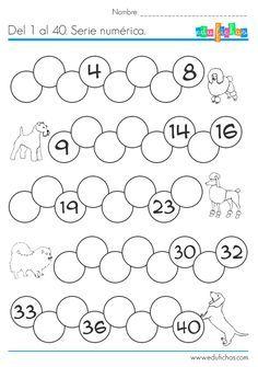 Ficha imprimible de matemáticas para 5 años. Tema: Secuencia ...