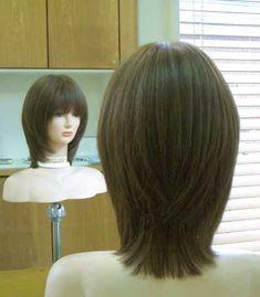 Bangs With Medium Hair, Medium Layered Hair, Long Hair Cuts, Medium Hair Styles, Long Hair Styles, Bob Hairstyles 2018, Girl Hairstyles, Shot Hair Styles, Hair Color And Cut
