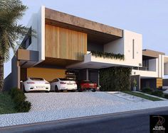 The modern home exterior design is the most popular among new house owners and those who intend to become the owner of a modern house. Modern Exterior House Designs, Modern Small House Design, Modern Villa Design, Duplex House Design, Bungalow Exterior, House Front Design, Dream House Exterior, Modern Architecture House, Exterior Design
