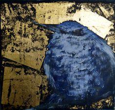 Passaro Betinha. Oil and gold on wood.  2012.