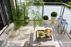 small balcony, then easy-care plants, lanterns with candles, beisc … - Kerzen Dekoration Easy Care Plants, Attic Loft, Balcony Railing, Balcony Garden, Balcony Ideas, Window Boxes, Lanterns, Exterior, Windows