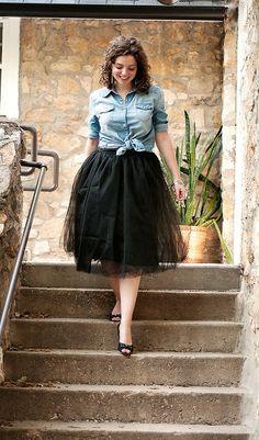 What I Wore: Shabby Apple Tulle Skirt