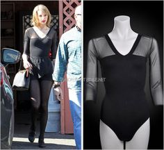 Stone Dancewear 'Chic V Neck and Translucent Sleeve Leotard' - €34.96