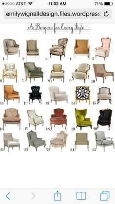 Luxury Awesome Types Of Chairs Interior Design Ideas Png  sc 1 st  Pinterest & A Photo Guide to Antique Chair Identification | Pinterest | Antique ...