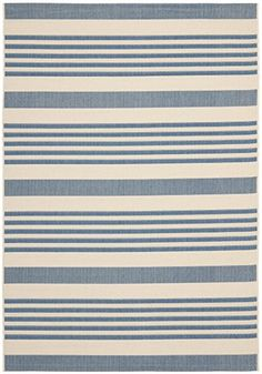 "Amazon.com: Safavieh Courtyard Collection CY6062-268 Navy and Beige Indoor/ Outdoor Area Rug (2'7"" x 5'): Home & Kitchen"