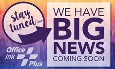 Big news coming soon for @officeinkplus! #growing #shoplocal #carrolltonga #print #invitations #tshirts #graphicdesign #visitcarrollton