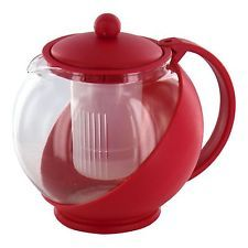 1.2L Glass Infusion Teapot Loose Tea Leaf Infuser Pot Contemporary Design