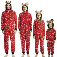 31ca3e3a4 Buy Matching Family Pajamas Christmas Reindeer Sleepwear Mom Dad Kid Baby  Onesie PJs online