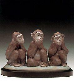 LLADRO - THE THREE WISE MONKEYS