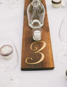 Numbered Wood Table Runners Rustic Wedding by jeremiahcollection wood-table-runner-rustic-wedding