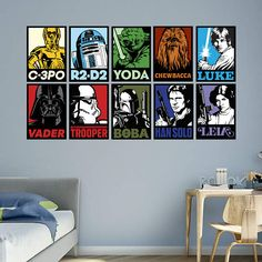 The Star Wars Portraits Collection wall decal provides an easy decorating solution. All of Fathead's Star Wars Movies wall decals are reusable without damaging walls.