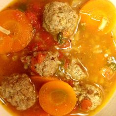 Sopa de Albondigas - Meatball Soup Recipe