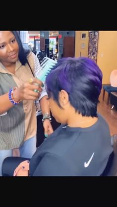 Thoughtful searched thinning hair styles for black women Please view our Sew In Hairstyles, Permed Hairstyles, Purple Hair Black Girl, Black Women Short Hairstyles, Short Quick Weave Hairstyles, Dyed Natural Hair, Sassy Hair, Short Hair Wigs, Girl Haircuts